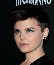 Ginnfer Goodwin amped up the attitude with lush lashes. A nude pout gave her edgy look a feminine twist.