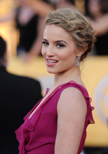 More Pics of Dianna Agron Dangling Diamond Earrings (1 of 8) - Dianna Agron Lookbook - StyleBistro