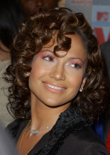 More Pics of Jennifer Lopez Medium Curls (1 of 4) - Jennifer Lopez Lookbook - StyleBistro
