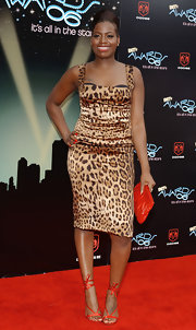 Fantasia Barrino looked chic and classy in a leopard print dress at the 2006 BET Awards.