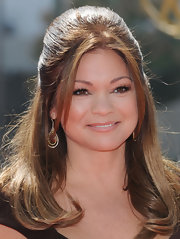 Valerie Bertinelli wore a half-up hairstyle to the Creative Arts Emmy Awards.