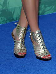 Danica Patrick wore edgy gladiator heels to the Teen Choice Awards.