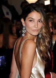 Lily Aldridge attended the Met Gala looking glam with these diamond chandelier earrings.