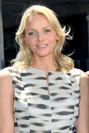 Charlene Wittstock wore her layered cut in tousled waves at the 2011 Formula 1 Monaco Grand Prix.