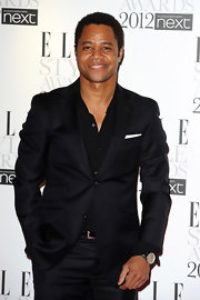 Cuba Gooding Jr.'s blazer had just the right amount of sheen to make him pop at the 2012 Elle Style Awards. The lapel accenting was the cherry on this well dressed cake.