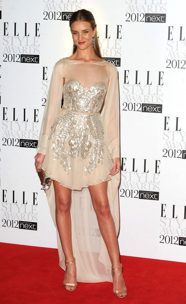 More Pics of Rosie Huntington-Whiteley Cocktail Dress (1 of 4) - Rosie Huntington-Whiteley Lookbook - StyleBistro