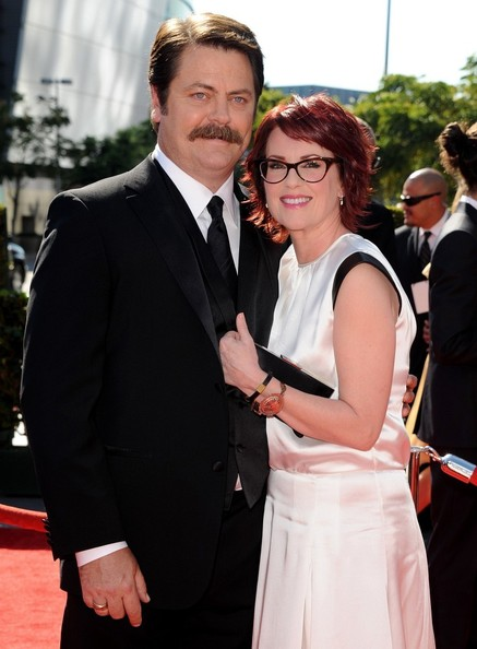 More Pics of Megan Mullally Layered Razor Cut (1 of 8) - Layered Razor Cut Lookbook - StyleBistro