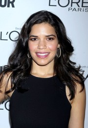 America Ferrera wore her tresses loose with gentle waves when she attended the Glamour Women of the Year Awards.