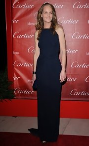 Helen Hunt looked effortlessly elegant in this sleek navy dress at the IFF Awards Gala.