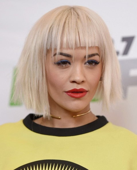 More Pics of Rita Ora Short Cut With Bangs (4 of 6) - Short Hairstyles Lookbook - StyleBistro []
