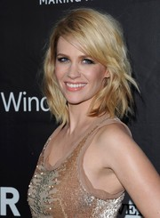 January Jones looked edgy-chic with her textured layers at the amfAR Inspiration LA Gala.