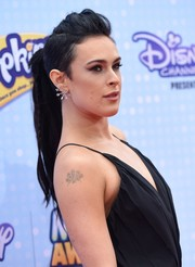 Rumer Willis sported an edgy pompadour ponytail at the Radio Disney Music Awards.