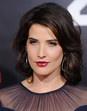 Cobie Smulders swept on a shiny raspberry-colored lipstick for the premiere of '21 Jump Street.'