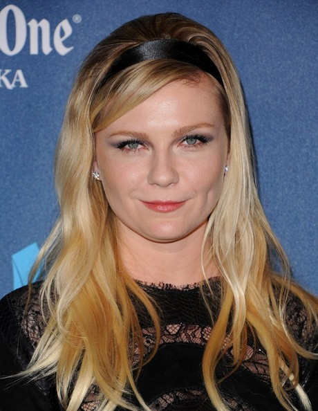 More Pics of Kirsten Dunst Long Wavy Cut with Bangs (1 of 5) - Long Wavy Cut with Bangs Lookbook - StyleBistro