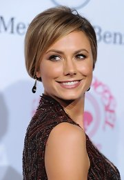 Stacy Keibler looked refined in this side-swept French twist.