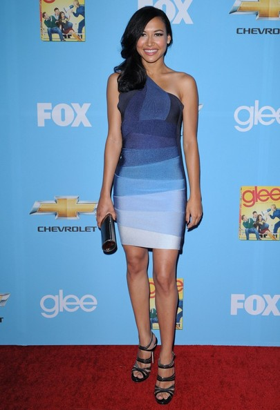 Naya Rivera sizzled at the 'Glee' premiere in strappy pewter platform sandals.