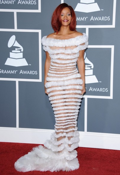 Rihanna - Best and Worst Dressed at the 2011 Grammy Awards ...