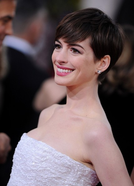 More Pics of Anne Hathaway Pixie (5 of 13) - Anne Hathaway Lookbook - StyleBistro