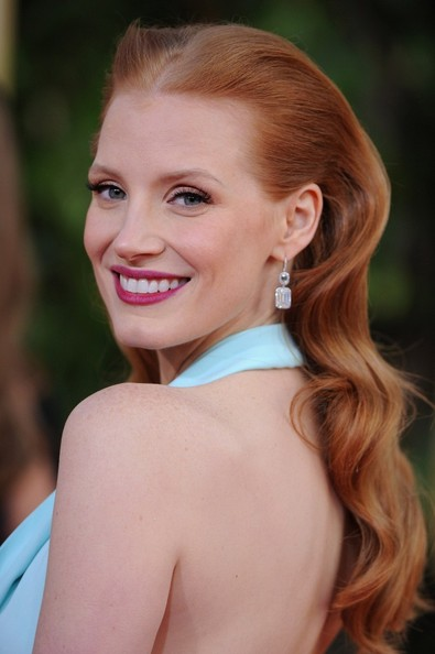 More Pics of Jessica Chastain Halter Dress (1 of 19) - Jessica Chastain Lookbook - StyleBistro