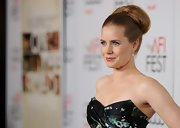 Amy Adams looked exquisite with her voluminous bun at the 'On the Road' premiere.