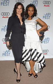 Marcia Gay Harden was seen carrying a gemstone inlaid box clutch at the AFI Fest 2006.
