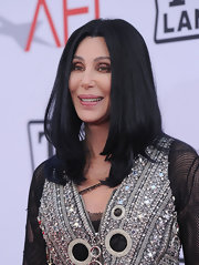 Cher attended the AFI Life Achievement Award wearing her hair in sleek face-framing layers.