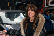 Paula Abdul gets out of her SUV holding a copy of Roseanne Barr's new book 'Roseannearchy: Dispatches From the Nut Farm'.  Abdul was given the book by Roseanne after the two appeared on 'Live with Regis and Kelly' earlier that day.