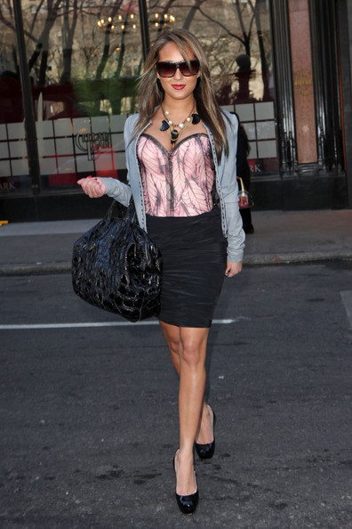Adrienne Bailon Patent Leather Tote