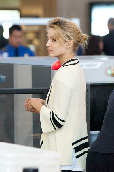 More Pics of Dianna Agron Patterned Scarf (1 of 12) - Dianna Agron Lookbook - StyleBistro