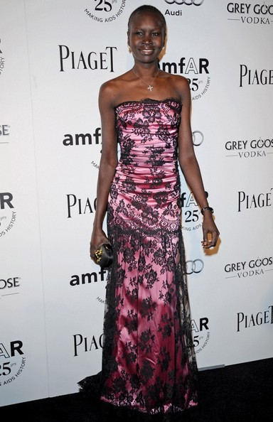 Alek Wek Strapless Dress