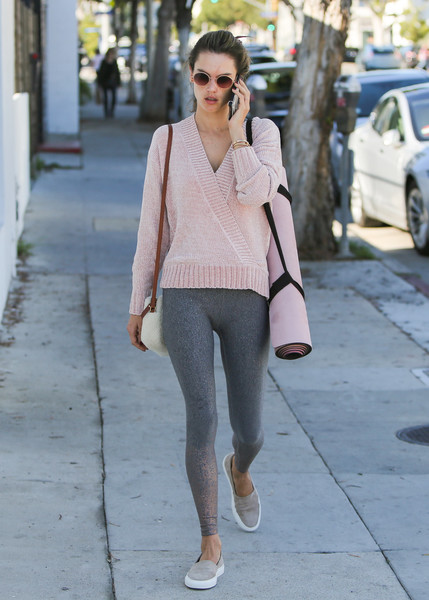 More Pics of Alessandra Ambrosio Leggings (1 of 15) - Pants & Shorts Lookbook - StyleBistro