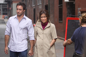 Jennifer Lopez Alex O'Loughlin Jennifer Lopez and Alex O'Loughlin on the Set of 'The Back-Up Plan'