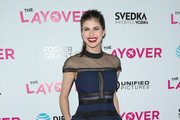 Alexandra Daddario Lace Dress