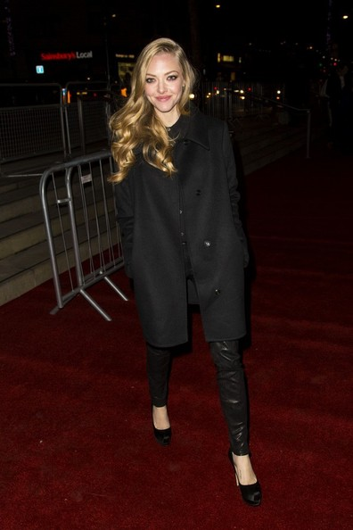 Amanda Seyfried Wool Coat