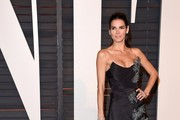 Angie Harmon Strapless Dress