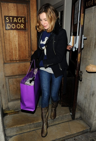 Laura Carmichael was spotted leaving Vaudeville Theatre wearing a casual outfit featuring a pair of gorgeous boots.
