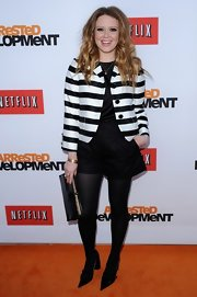 Natasha Lyonne rocked a pair of black dress shorts for her look at the 'Arrested Development' premiere in Hollywood.