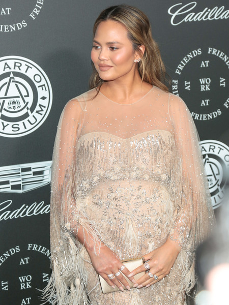More Pics of Chrissy Teigen Maternity Dress (9 of 17) - Chrissy Teigen Lookbook - StyleBistro