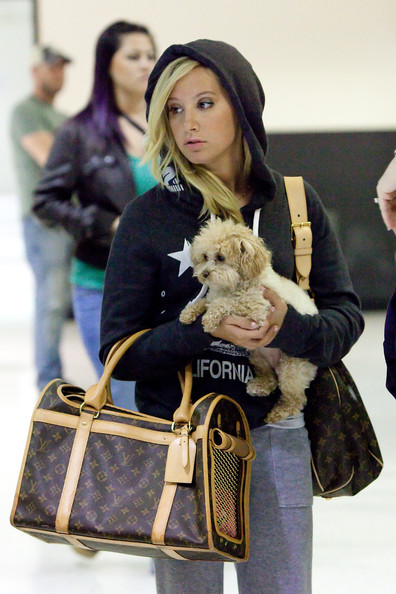 More Pics of Ashley Tisdale Leather Shoulder Bag (1 of 8) - Ashley Tisdale Lookbook - StyleBistro