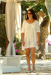 Asia Argento pulled off a sheer tunic as a cover-up awhile enjoying vacation with Michele Civetta at Le Dune Resort.