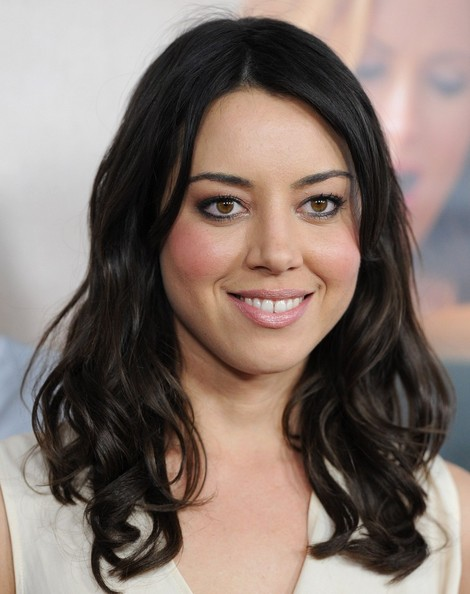 Aubrey Plaza Metallic Eyeshadow