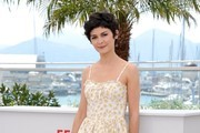 Audrey Tautou Print Dress