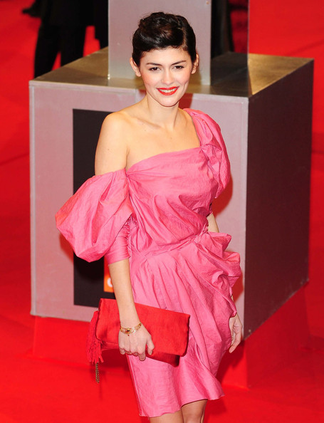Audrey Tautou Bobby Pinned Updo