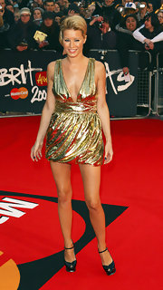 Denise van Outen pulled off a sexy metallic dress at the 2008 Brit Awards.