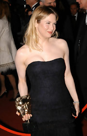 Renee Zellweger wore her blond locks center-parted and slightly messy to a BAFTA after party.
