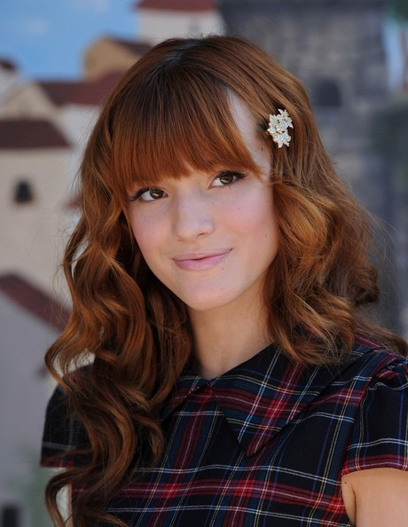 Bella Thorne Long Curls with Bangs