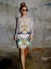 We are head over heels for this fab print dress Beyonce wore for a blog photoshoot.