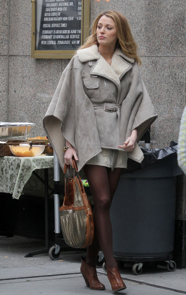 Blake Lively Metallic Hobo