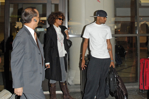 Whitney Houston and Bobbi Brown at LAX
