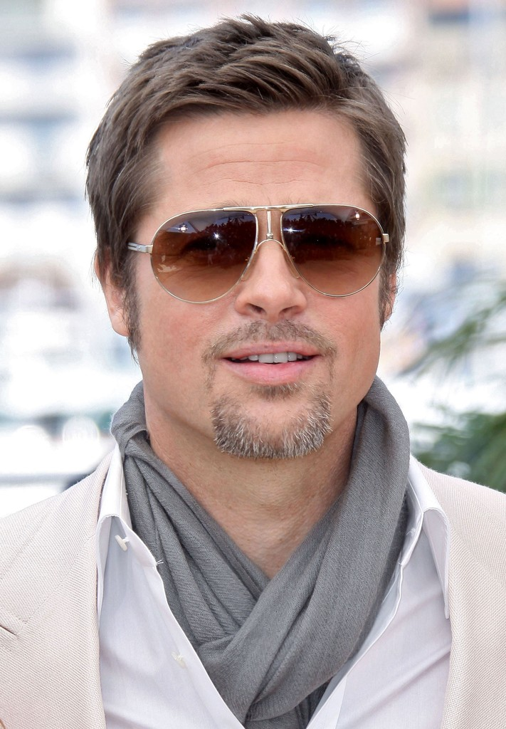 Brad Pitt Aviator Sunglasses Brad Pitt Sunglasses Looks